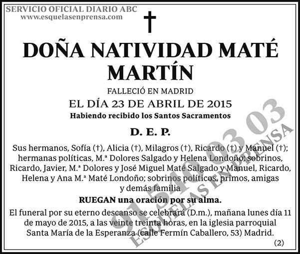 Natividad Maté Martín